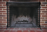 Screens fireplace firescreen information a simple single panel wire mesh fireplace screen teraionfo